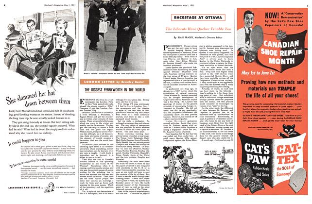 Article Preview: LONDON LETTER, May 1951   Maclean's