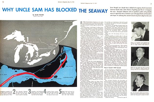 Article Preview: WHY UNCLE SAM HAS BLOCKED THE SEAWAY, May 1951 | Maclean's