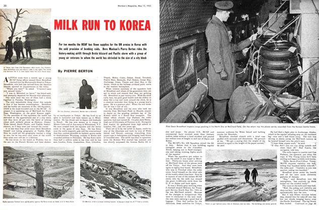 Article Preview: MILK RUN TO KOREA, May 1951 | Maclean's