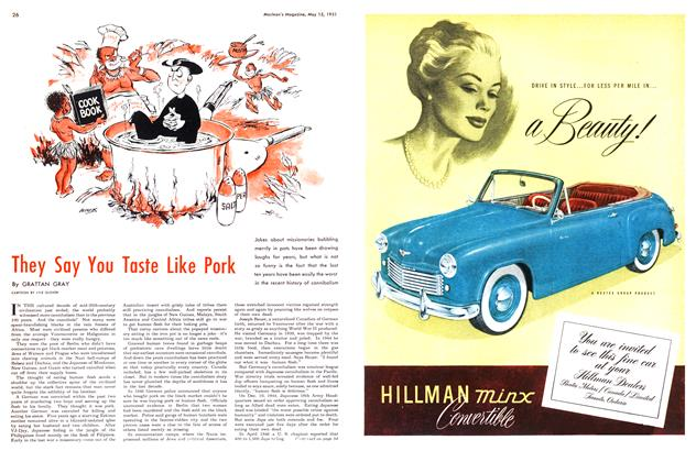 Article Preview: They Say You Taste Like Pork, May 1951 | Maclean's