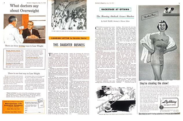 Article Preview: THIS DAUGHTER BUSINESS, May 1951 | Maclean's