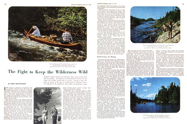 Article Preview: The Fight to Keep the Wilderness Wild, May 1951 | Maclean's