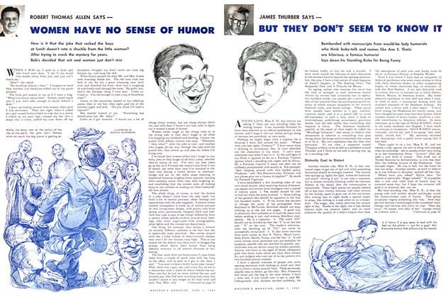 Article Preview: WOMEN HAVE NO SENSE OF HUMOR, June 1951 | Maclean's
