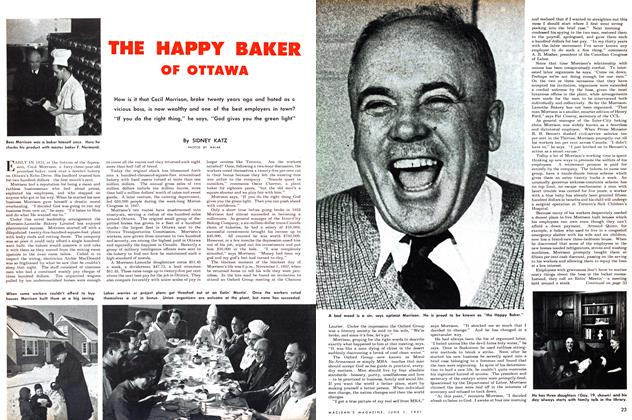 Article Preview: THE HAPPY BAKER OF OTTAWA, June 1951 | Maclean's