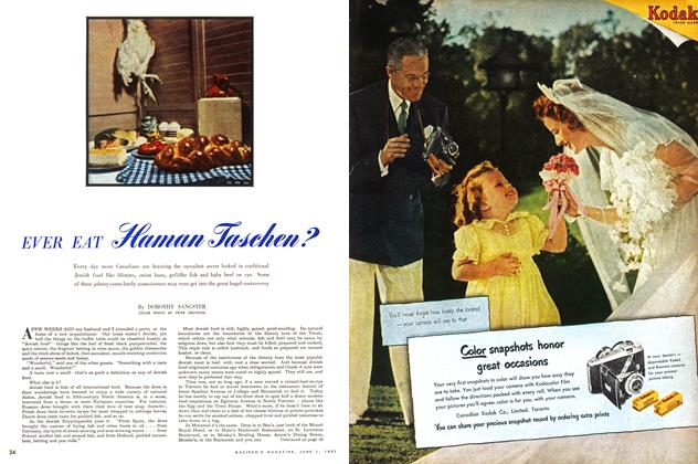 Article Preview: EVER EAT Haman Taschen?, June 1951 | Maclean's