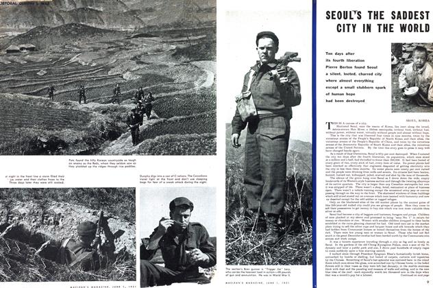 Article Preview: SEOUL'S THE SADDEST CITY IN THE WORLD, June 1951 | Maclean's