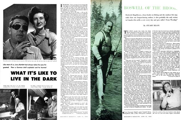 Article Preview: WHAT IT'S LIKE TO LIVE IN THE DARK, June 1951 | Maclean's
