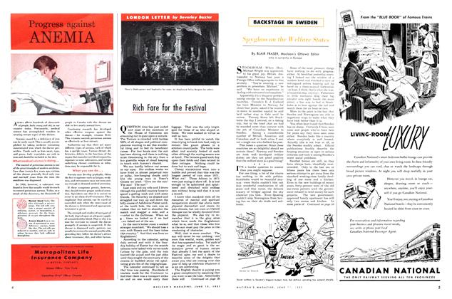 Article Preview: Rich Fare for the Festival, June 1951 | Maclean's