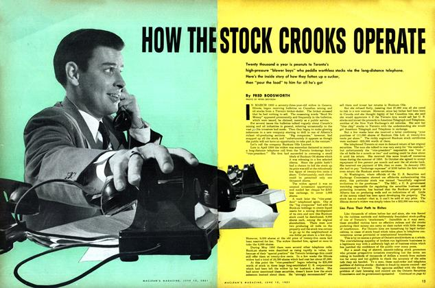Article Preview: HOW THE STOCK CROOKS OPERATE, June 1951 | Maclean's