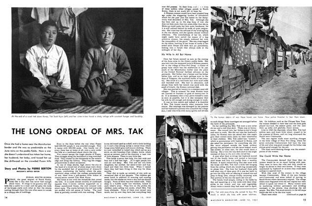 Article Preview: THE LONG ORDEAL OF MRS. TAK, June 1951 | Maclean's