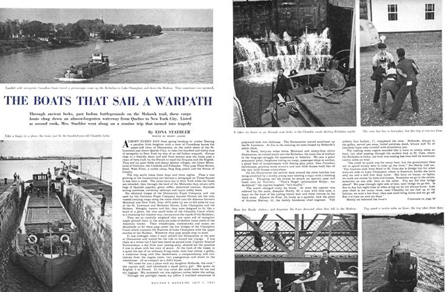 Article Preview: THE BOATS THAT SAIL A WARPATH, July 1951 | Maclean's