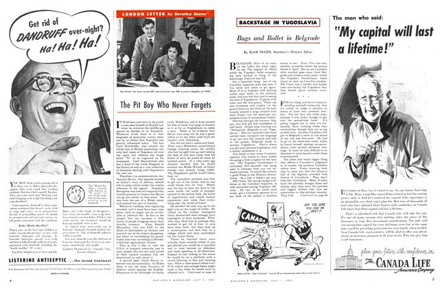Article Preview: The Pit Boy Who Never Forgets, July 1951 | Maclean's