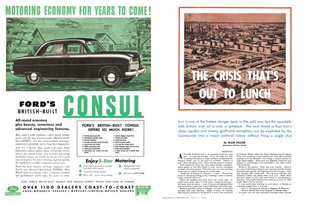 Article Preview: THE CRISIS THAT'S OUT TO LUNCH, July 1951   Maclean's