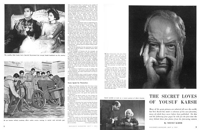 Article Preview: THE SECRET LOVES OF YOUSUF KARSH, July 1951 | Maclean's