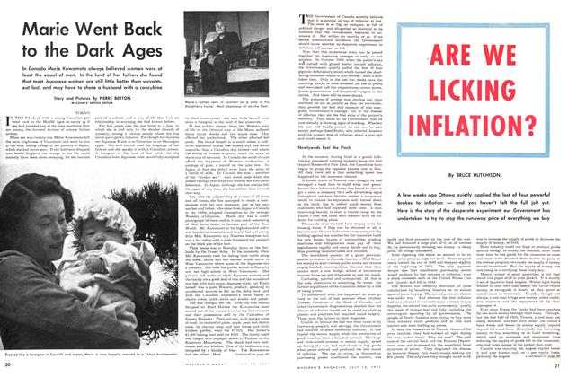 Article Preview: Marie Went Back to the Dark Ages, July 1951 | Maclean's