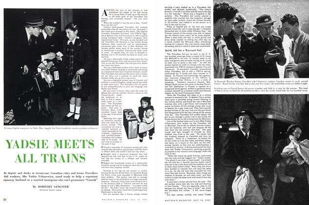 Article Preview: YADSIE MEETS ALL TRAINS, July 1951 | Maclean's