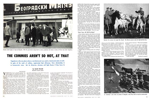Article Preview: THE COMMIES AREN'T SO HOT, AT THAT, July 1951 | Maclean's