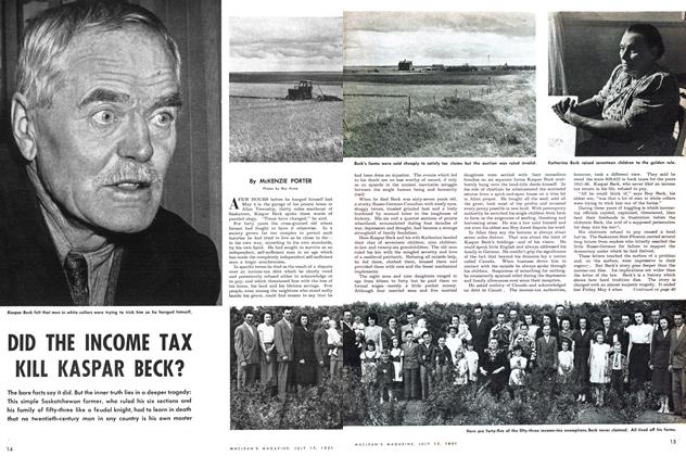 Article Preview: DID THE INCOME TAX KILL KASPAR BECK?, July 1951 | Maclean's