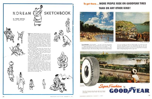 Article Preview: KOREAN SKETCHBOOK, August 1951 | Maclean's