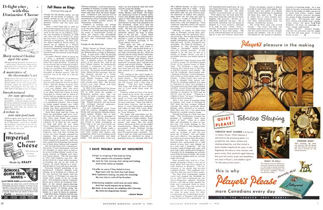 Article Preview: I HAVE TROUBLE WITH MY NEIGHBORS, August 1951   Maclean's