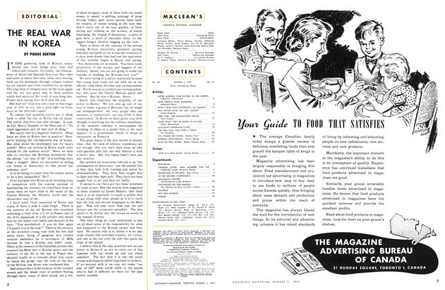 Article Preview: THE REAL WAR IN KOREA, August 1951   Maclean's