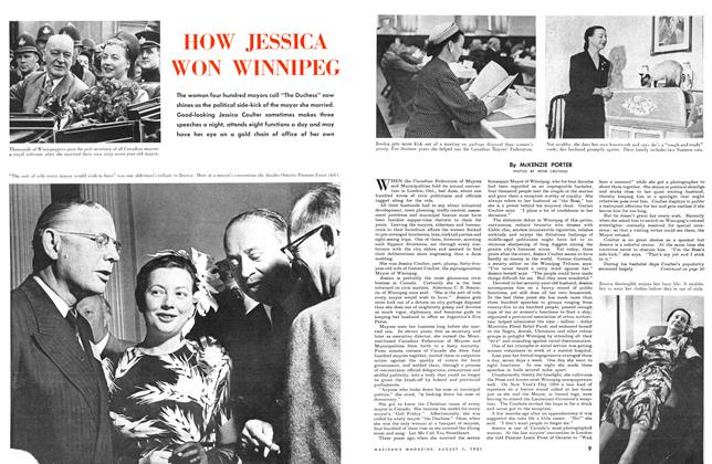 Article Preview: HOW JESSICA WON WINNIPEG, August 1951 | Maclean's