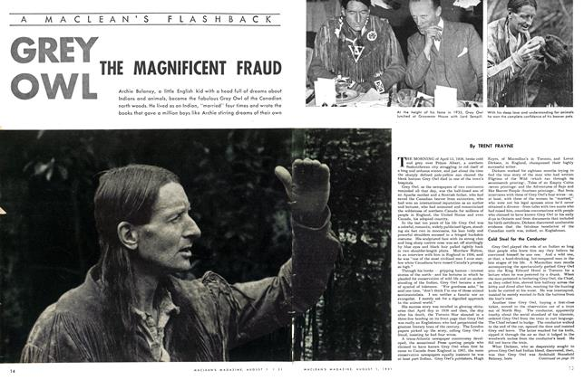 Article Preview: GREY OWL THE MAGNIFICENT FRAUD, August 1951 | Maclean's
