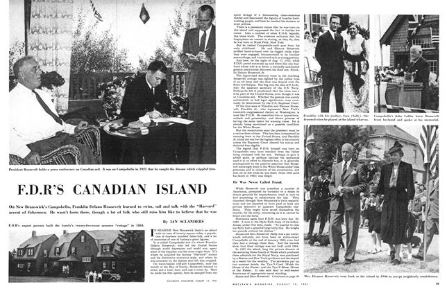 Article Preview: F.D.R'S CANADIAN ISLAND, August 1951 | Maclean's