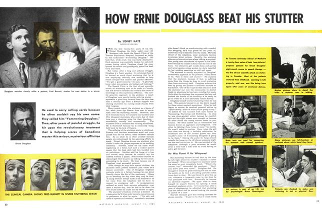 Article Preview: HOW ERNIE DOUGLASS BEAT HIS STUTTER, August 1951 | Maclean's