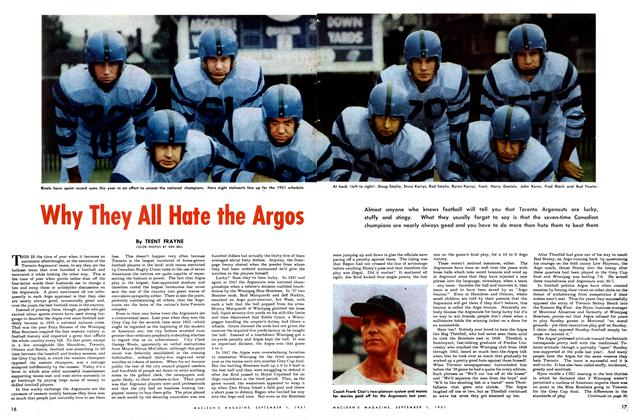 Article Preview: Why They All Hate the Argos, September 1951 | Maclean's