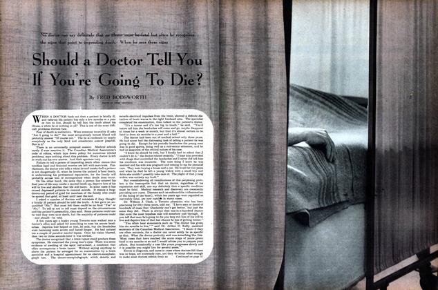 Article Preview: Should a Doctor Tell You If You're Going To Die?, September 1951 | Maclean's