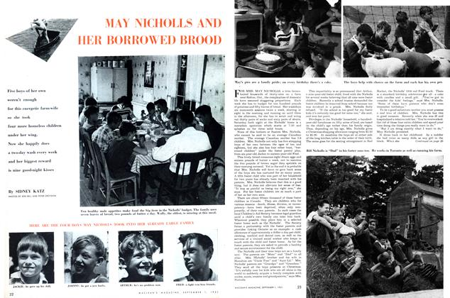 Article Preview: MAY NICHOLLS AND HER BORROWED BROOD, September 1951 | Maclean's