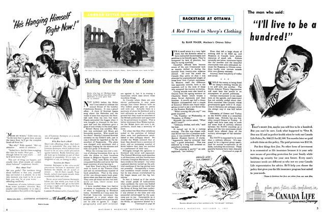 Article Preview: Skirling Over the Stone of Scone, September 1951 | Maclean's