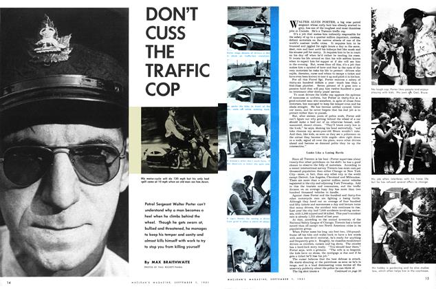 Article Preview: DON'T CUSS THE TRAFFIC COP, September 1951 | Maclean's
