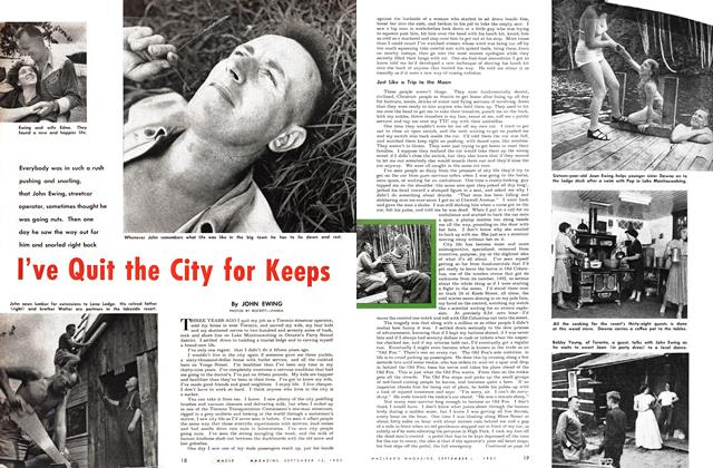 Article Preview: I've Quit the City for Keeps, September 1951 | Maclean's