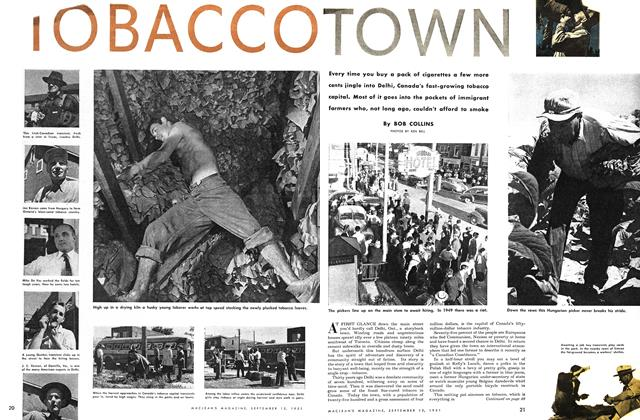 Article Preview: TOBACCO TOWN, September 1951 | Maclean's