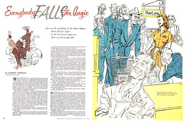 Article Preview: Everybody FALLS For angie, September 1951 | Maclean's