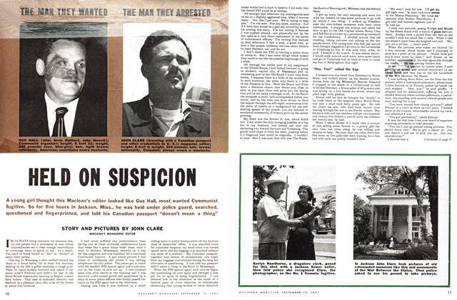 Article Preview: HELD ON SUSPICION, September 1951 | Maclean's