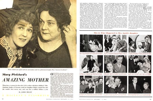 Article Preview: Mary Pickford's AMAZING MOTHER, September 1951 | Maclean's