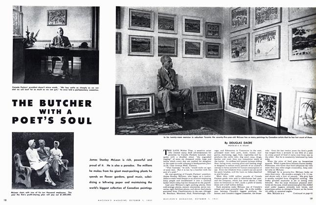 Article Preview: THE BUTCHER WITH A POET'S SOUL, October 1951 | Maclean's