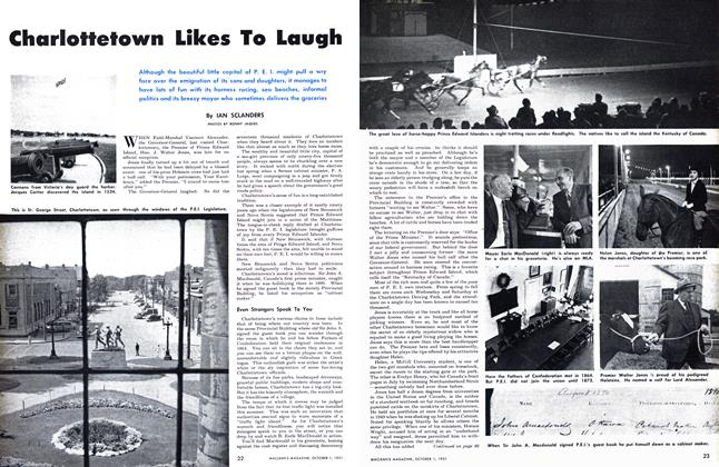 Article Preview: Charlottetown Likes To Laugh, October 1951 | Maclean's