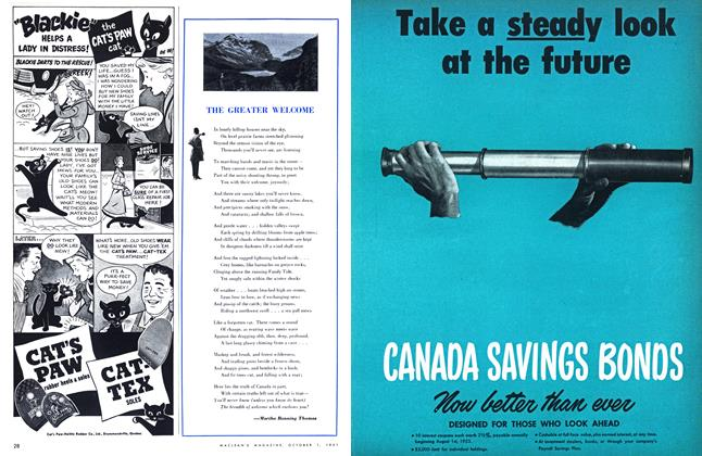 Article Preview: THE GREATER WELCOME, October 1951 | Maclean's