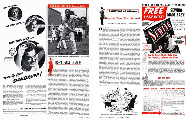 Article Preview: How the Tour Was Planned, October 1951 | Maclean's