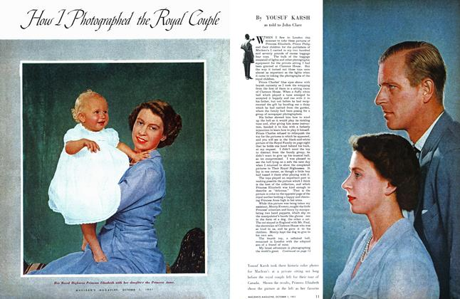Article Preview: How I Photographed the Royal Couple, October 1951 | Maclean's