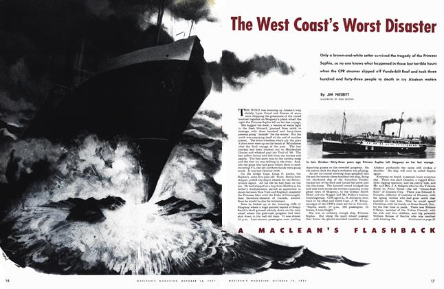 Article Preview: The West Coast's Worst Disaster, October 1951 | Maclean's