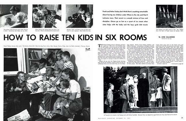 Article Preview: HOW TO RAISE TEN KIDS IN SIX ROOMS, October 1951 | Maclean's
