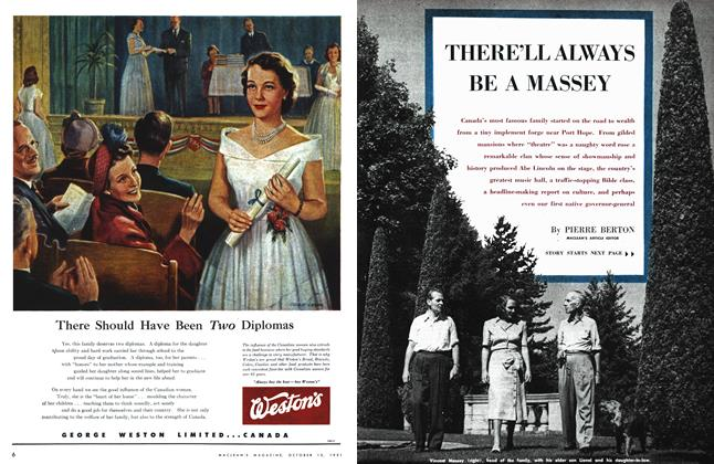Article Preview: THERE'LL ALWAYS BE A MASSEY, October 1951 | Maclean's