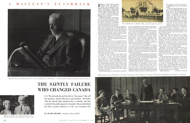 Article Preview: THE SAINTLY FAILURE WHO CHANGED CANADA, November 1951 | Maclean's