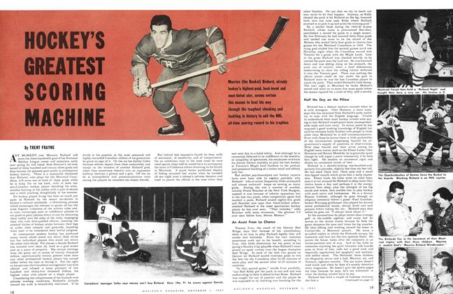 Article Preview: HOCKEY'S GREATEST SCORING MACHINE, November 1951 | Maclean's