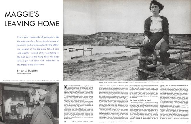 Article Preview: MAGGIE'S LEAVING HOME, November 1951 | Maclean's